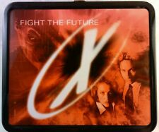 X Files Fight the Future large Metal Lunchbox - 1998 G Whiz - Mulder and Scully