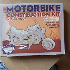 Professor Puzzle Wooden Motorbike Construction Kit - Plus Quiz Book