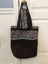 Enfamil Baby Travel Diaper Bag & Insulated  Baby Bottle Bag Brown Blue Paisley