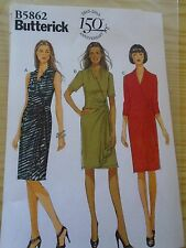 "PATRON ""BUTTERICK 3 VERSIONS  ROBE CROISEE A PAN     T 36 AU 44  N°5862  (A)"