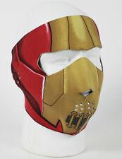 Iron Man Reversible Neoprene Face Mask Ski Snowboard Biker Warm Red Avengers NEW