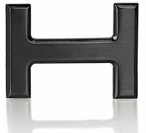 Gürtelschnalle Schnalle Schwarz H 40mm für Wechselgürtel Wendegürtel Schließe