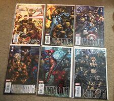 Ultimatum #1-2-3-4-5 & X-men Requiem Comics Finch Avengers Ultimates Nm 2009