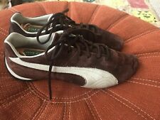 Puma Repli Cat Low Mens Shoes Suede Leather Brown White Sneakers Driving Size 8