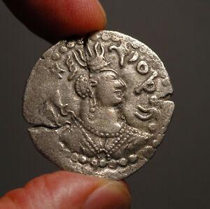 H11-26   Turk Shahi drachm of the type of the Nezak / Alchon Huns.  Gobl Em. 236