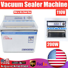 200w Vacuum Sealer Food Sealing Machine Commercial Chamber Packing Machine 3l
