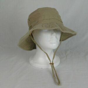 Columbia Sportswear Khaki Tan Boonie Fishing Safari Hat Youth Unisex Medium USA