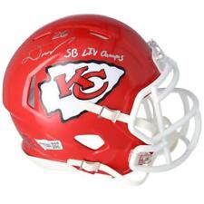 "DAMIEN WILLIAMS Autographed ""SB LIV Champs"" Chiefs Mini Speed Helmet FANATICS"