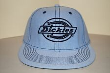 Dickies Blue Flat Bill Fitted Hat (Size: Small / Medium)