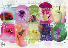 Netherlands 2018 MNH Insects Beetles Spiders Ladybirds Butterflies 10v MS Stamps