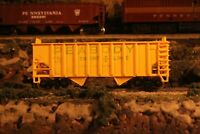 N Scale Made in Yugoslavia Yellow Coal Car Peabody Short Line 4 Bay PSL6631