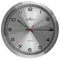 Modern Wall Clock - CHERMOND - Ticking , Metal Case
