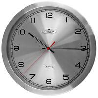 Modern Wall Clock - CHERMOND - Ticking , Metal Case