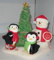 2006 Hallmark Very Merry Trio Animated Singing Snowman & Penguin Jingle Pals