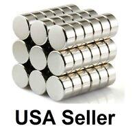 Lot 50 100 10x5mm 3/8 x 3/16 inch N52 Strong Disc Rare Earth Neodymium Magnet
