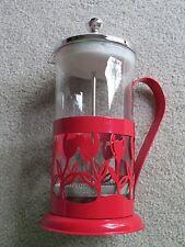 French Press Coffee Maker - RED TULIP design