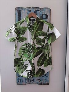 Vintage Retro Mens Hawaiian Shirt Size S Small Summer Forever 21