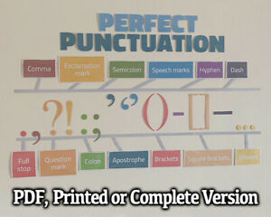 PERFECT PUNCTUATION CLASSROOM WALL DISPLAY ENGLISH / LITERACY - FREE DELIVERY