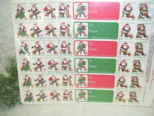 CHRISTMAS SEALS 1982 SANTA CLAUS W/ PUPPY STAMPS AND GIFT TAGS