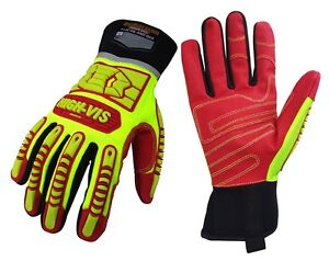 Seibertron HIGH-VIS HRIG Rigger Gloves Oil and Gas Safety Gloves