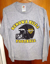 KENOWA HILLS High School youth lrg T shirt Knights beat-up tee football Michigan
