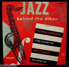 "JAZZ BEHIND THE DIKES-Rare 10"" HOLLAND Import Jazz LP-PHILIPS #P 10078 R"