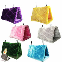 Pet Bird Parrot Hanging Hammock Plush Fluffy Cave Bed Cage Snuggle Tent Toy