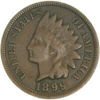 1899 Indian Head Cent Very Fine Penny VF