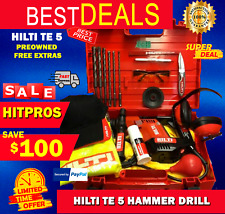 Hilti Te 5 Hammer Drill Lk Made In Germany Free Extras Fast Shipping