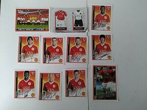 Merlin FA Premier League 2007 x11 Manchester United Stickers-Rooney-Giggs-Shiny
