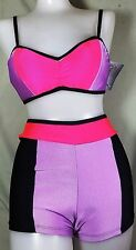 NWT Pumpers Lavender & Red Top &  Boyshort Costume Set Adult S