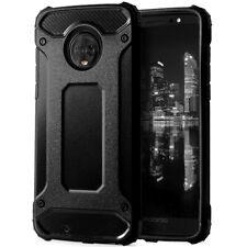 Hard Mobile Back for Motorola Moto G6 Plus Rubber Tough Phone Shell Bumper Black