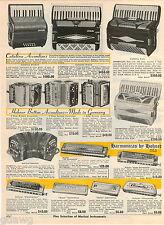 1964 ADVERT Catalina Accordions Hohner Button Germany Harmonica 64 Chromonica