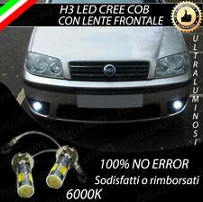 LAMPADE FENDINEBBIA H3 LED CREE COB CANBUS FIAT PUNTO MK3 III 6000K NO ERRORE