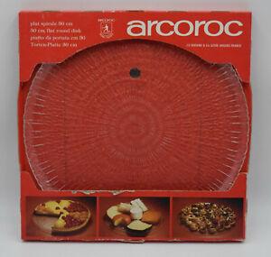 "ARCOROC GLASS SPIRALE PLATES/PLATTERS 12"" 30cm Rare Retro Mid Century New"