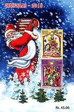 Sri Lanka 2015 MNH Christmas Nativity 2v M/S Stamps