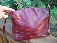 Lou Taylor Burgundy Leather Vintage 1950 S 1960 Purse Handbag