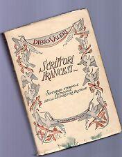 diego valeri - scrittori francesi - sommario storico e ant lettertura francese