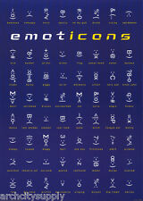 POSTER - COMICAL: EMOTICONS - FREE SHIPPING -  #PP0121  LC13 N