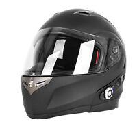 DOT Motorcycle Motorbike Full Face Helmet Bluetooth Intercom Headset Integrated