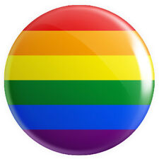More details for pride rainbow lgbt flag button pin badge 25mm 1 inch gay lesbian