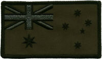 Australian Flag ANF Embroidered Patch Black/Green