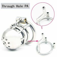 "Stainless Steel Male Through Hole PA Chastity Device Kidding Zone ""Bridge""-03"
