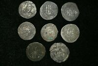 Lot Sell! 8 Pcs Authentic Ancient Sasanian Silver Coin Kings Khosrow II 590-628