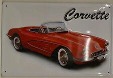 CORVETTE Auto - USA - PIN UP Targa di latta 20x 30 cm (B 263)