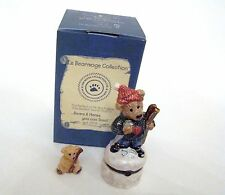 Boyds Bears Le Bearmoge Collection - Knut Downhill Racer Porcelain Hinged Box