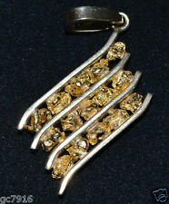 GOLD NUGGET PENDANT NATURAL 16.350g Palmer River Qld  with 18ct Bale