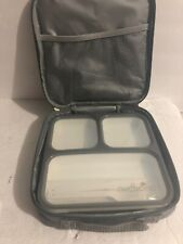 NUCUCINA Insulated Lunch Box Lunch Bag Thermal Bento Bag Office School Gray Grey