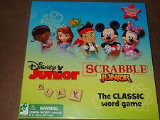 Disney Junior Scrabble Junior Game-Grow With Me 2-Sided Board-NIP