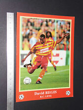RARE D. REGIS USA RC LENS RCL BOLLAERT SANG & OR FOOTBALL CPA FRANCE 1996-1997